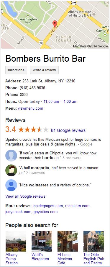Knowledge Graph Displaying Customer Reviews